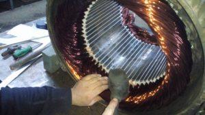 Sinop fırçalı dc motor Sarımı
